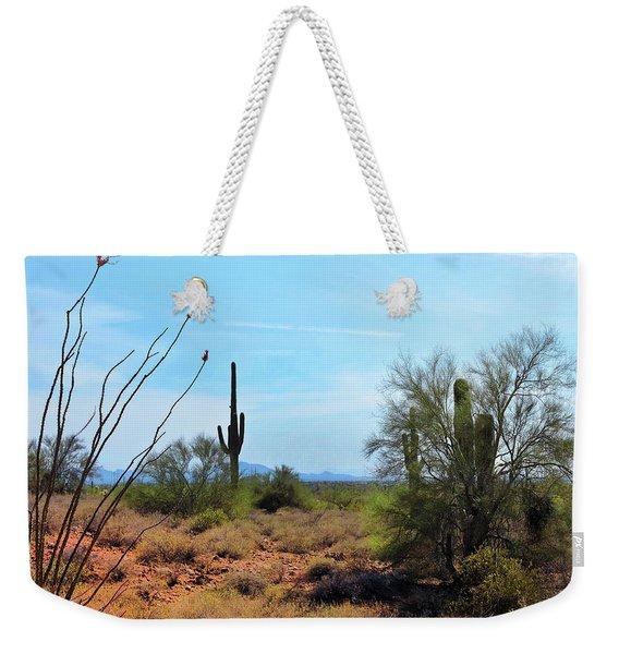 Saguaros In Sonoran Desert Weekender Tote Bag