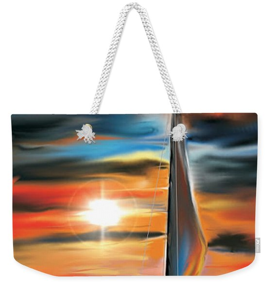 Sailboat And Sunset Weekender Tote Bag