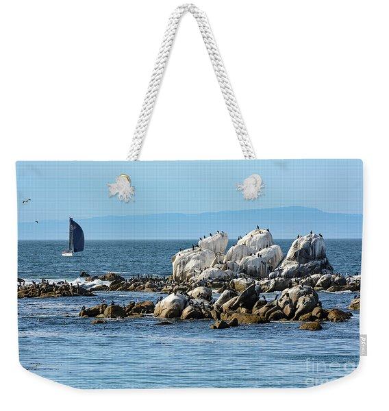 Sailboat At Bird Rock Weekender Tote Bag