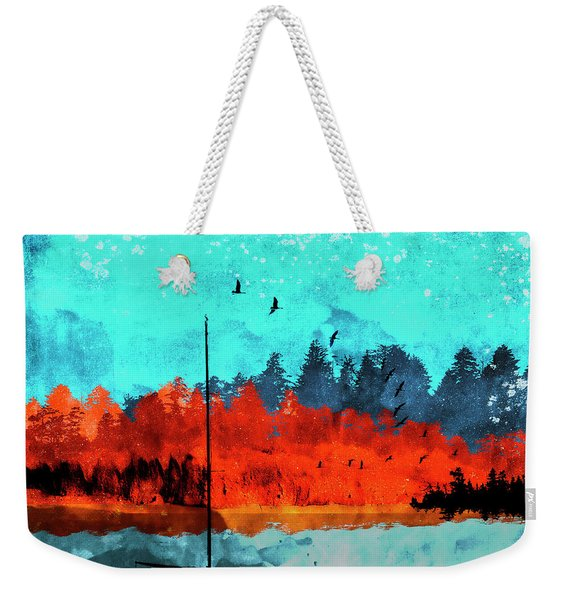 Sailboat Daybreak Lake Weekender Tote Bag