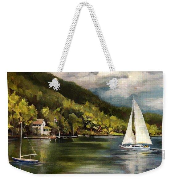Sailboat On Lake Morey Weekender Tote Bag
