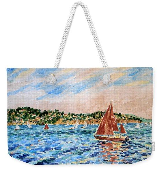 Sailboat On The Bay Weekender Tote Bag