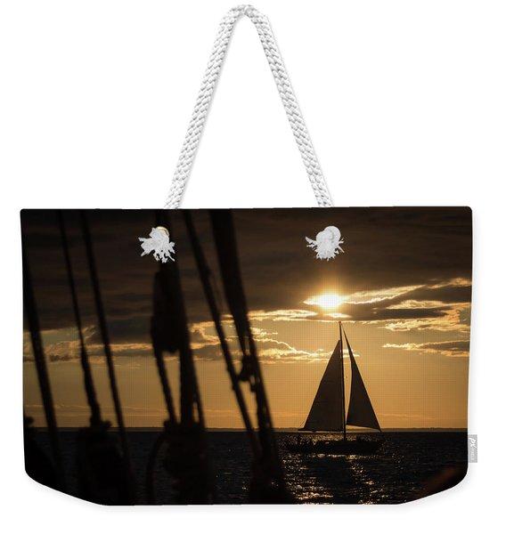 Sailboat On The Horizon Weekender Tote Bag