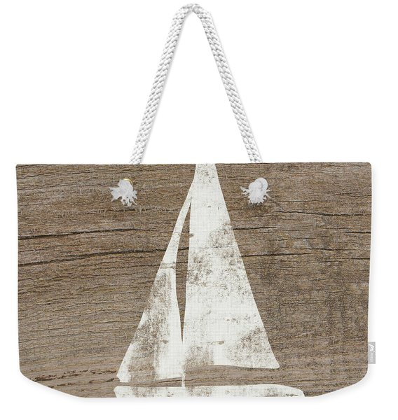 Sailboat On Wood- Art By Linda Woods Weekender Tote Bag