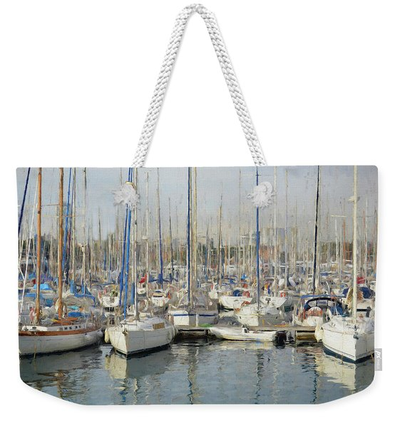 Sailboats At The Dock - Painting Weekender Tote Bag