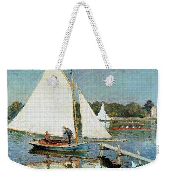 Sailing At Argenteuil Weekender Tote Bag