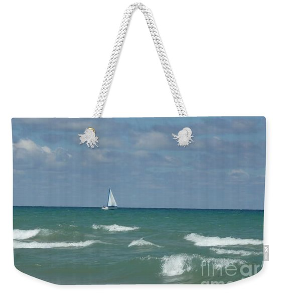 Sailing Away On The Lake Weekender Tote Bag
