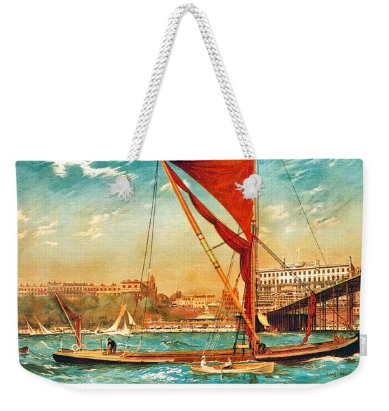 Sailing Boats Of Southend Sea Weekender Tote Bag