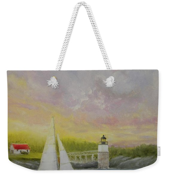 Sailing By Ram Island Weekender Tote Bag