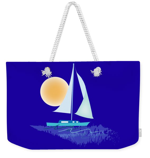 Weekender Tote Bag featuring the digital art Sailing Day by Gina Harrison