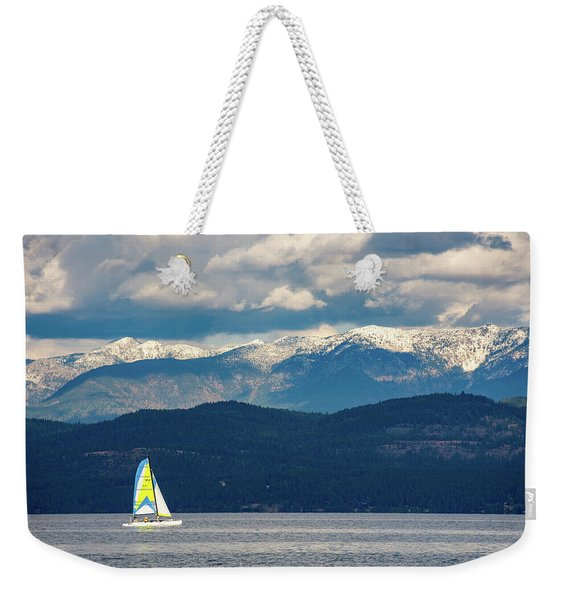 Sailing Flathead Lake Weekender Tote Bag