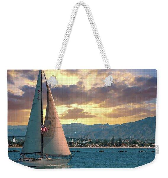 Sailing In San Diego Weekender Tote Bag