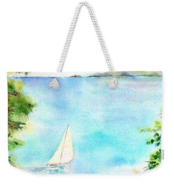 Sailing In The Caribbean Weekender Tote Bag