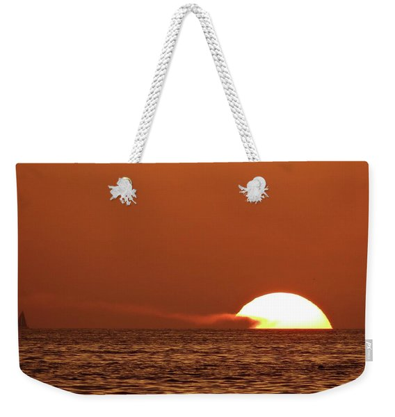 Sailing In The Sunset Weekender Tote Bag