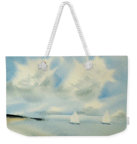 Sailing Into A Calm Anchorage Weekender Tote Bag