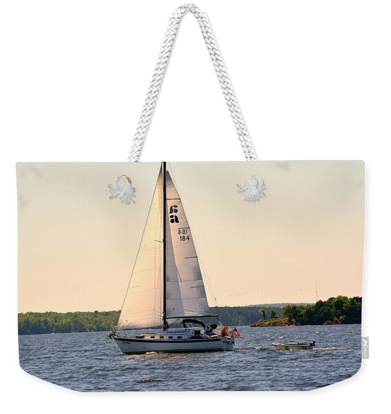 Sailing On Lake Murray Sc Weekender Tote Bag