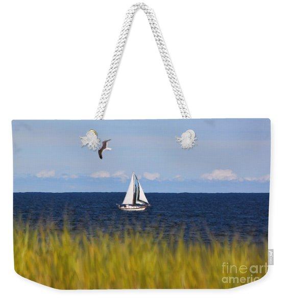 Sailing On Long Beach Island Weekender Tote Bag