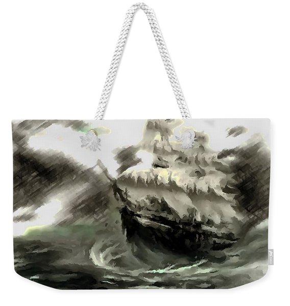 Sailing The Stormy Seas Weekender Tote Bag