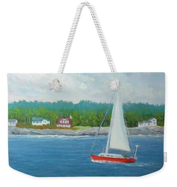 Sailing To New Harbor Weekender Tote Bag