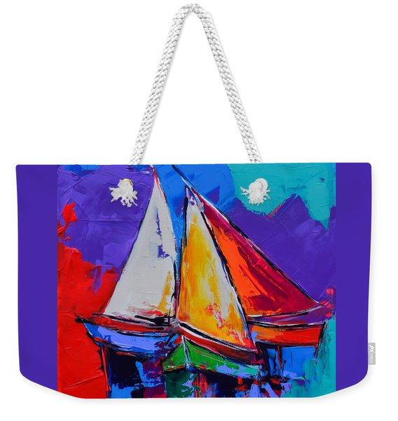 Sails Colors Weekender Tote Bag