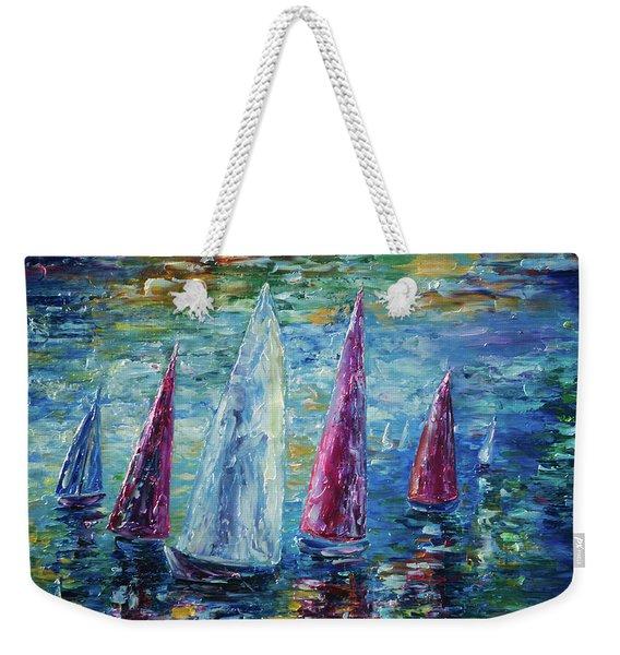 Sails To-night Weekender Tote Bag