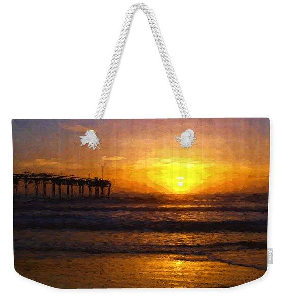 Saint Augustine Beach Sunrise Weekender Tote Bag