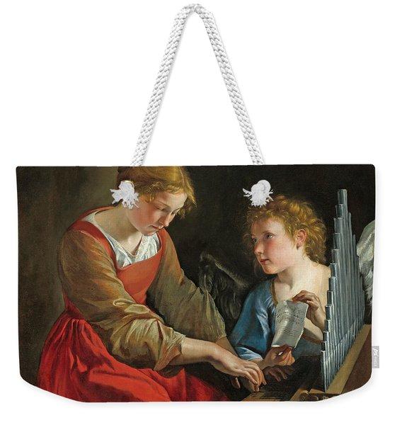 Saint Cecilia And An Angel Weekender Tote Bag