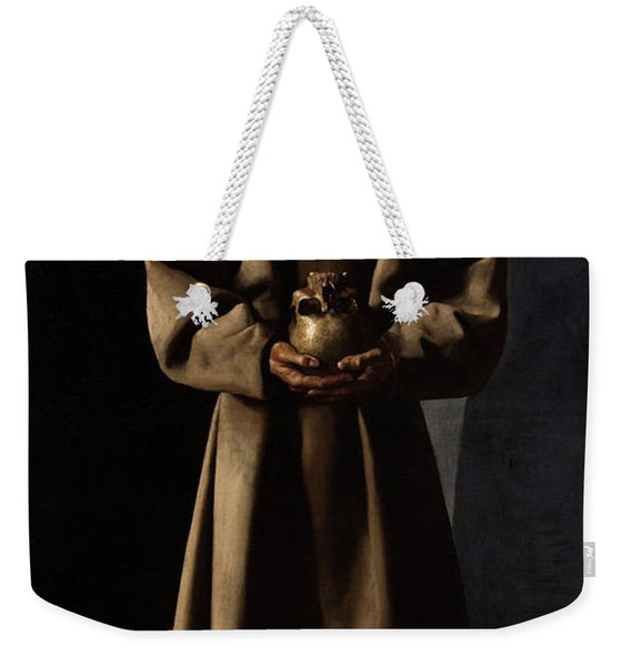 Saint Francis Of Assisi In His Tomb Weekender Tote Bag