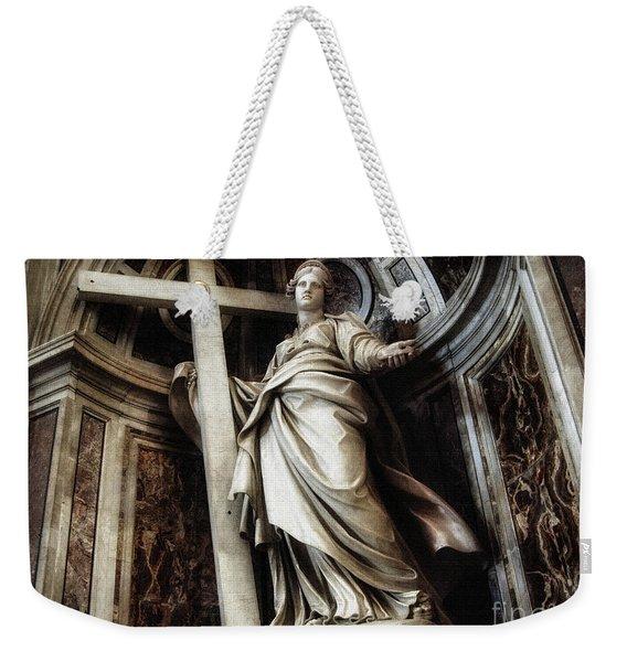 Saint Helena Statue Inside Saint Peter S Basilica Rome Italy Weekender Tote Bag