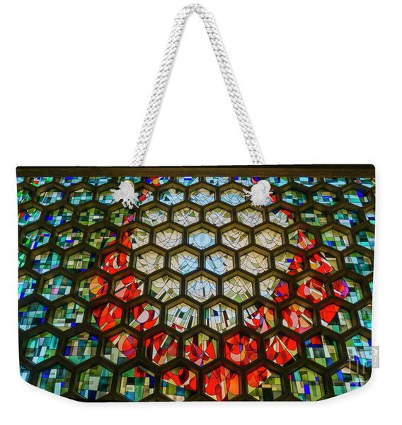 Saint John's University Abbey Stained Glass Magic Weekender Tote Bag