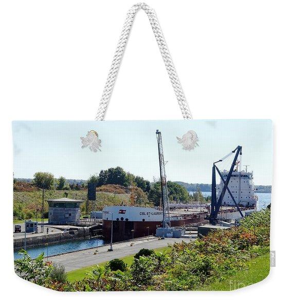 Saint Lawrence Seaway, Iroquois Lock Weekender Tote Bag
