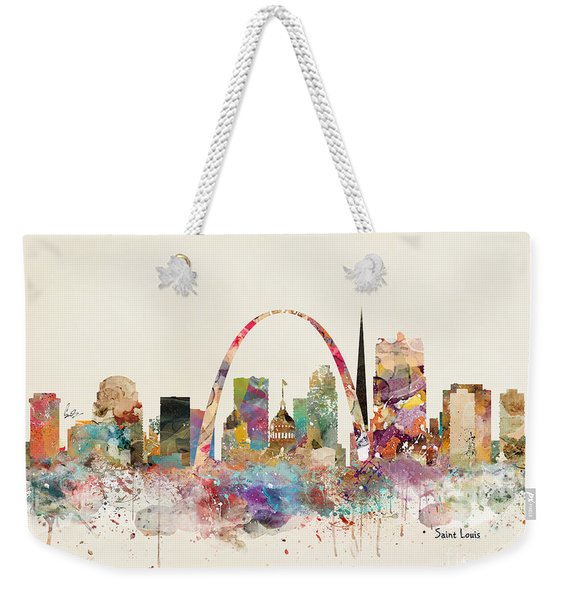 Saint Louis Missouri Skyline Weekender Tote Bag