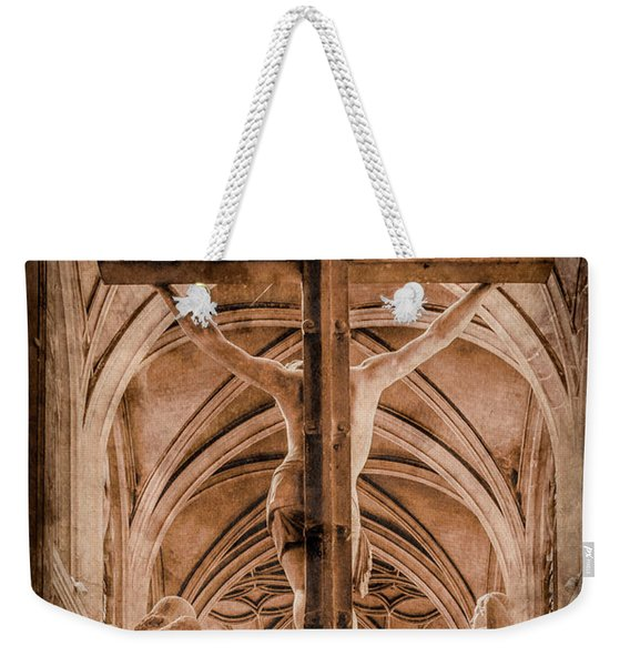 Paris, France - Saint Merri's Cross II Weekender Tote Bag