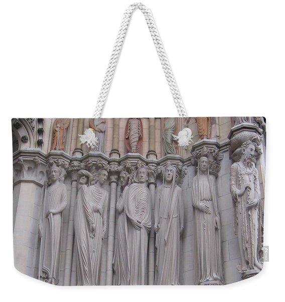 Saints At St. John The Divine Weekender Tote Bag