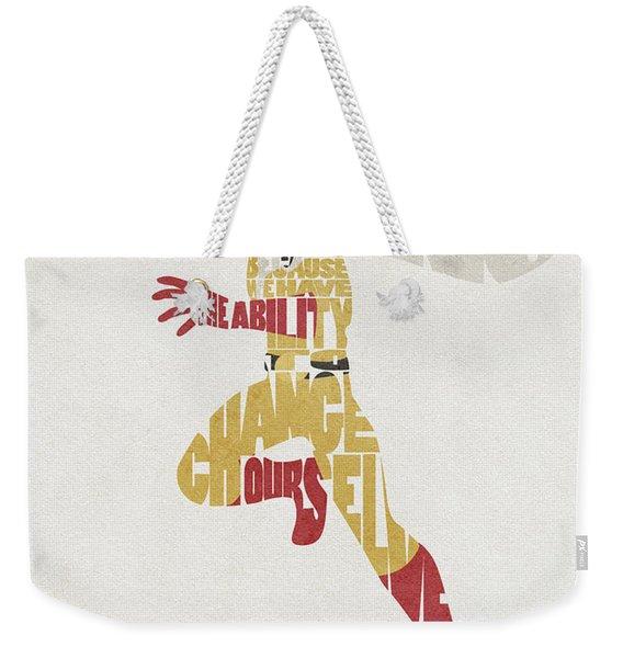 Saitama Typography Art Weekender Tote Bag
