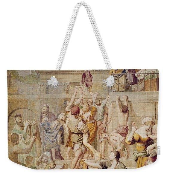 Saitn Cecilia Distributing Alms Weekender Tote Bag