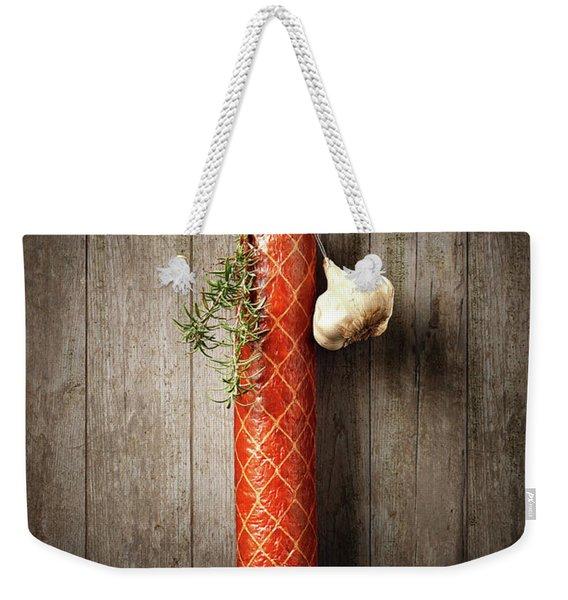 Salami Sausage  Weekender Tote Bag