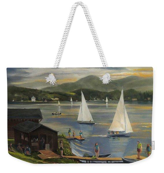 Sailing At Lake Morey Vermont Weekender Tote Bag