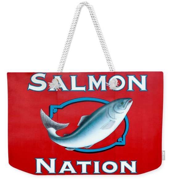 Salmon Nation Weekender Tote Bag
