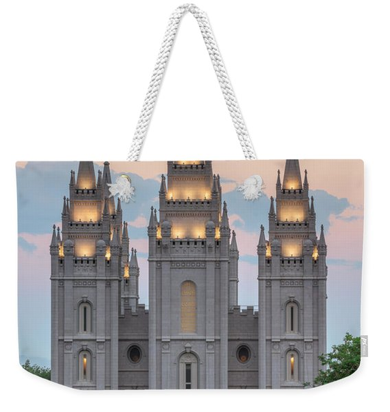 Salt Lake City Temple Morning Weekender Tote Bag