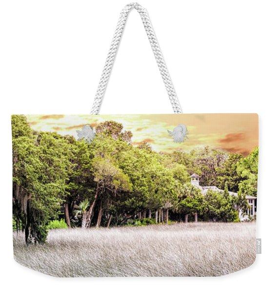 Salt Marsh Panorama Weekender Tote Bag