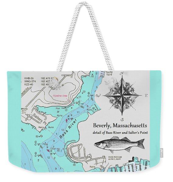 Salter's Point Map Weekender Tote Bag
