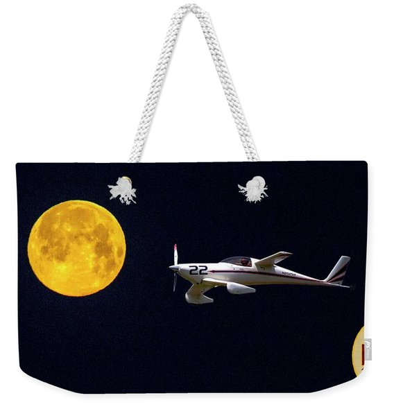 Sam And The Moon Weekender Tote Bag