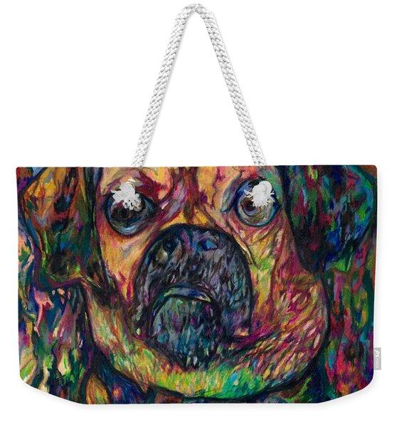 Sam The Dog Weekender Tote Bag