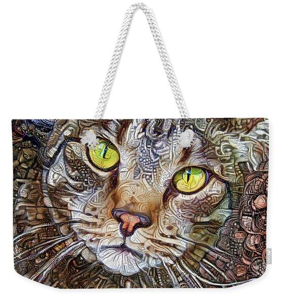 Sam The Tabby Cat Weekender Tote Bag
