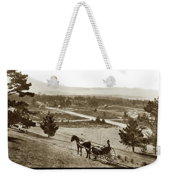 Samuel J. Duckworth Pauses To Look Upon What Would Become Carmel 1890 Weekender Tote Bag