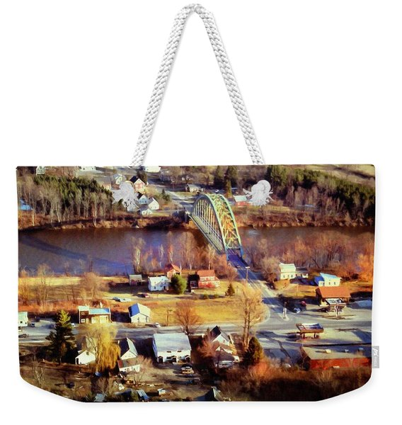 Samuel Morley Bridge Fairlee Vt To Orford Nh Weekender Tote Bag