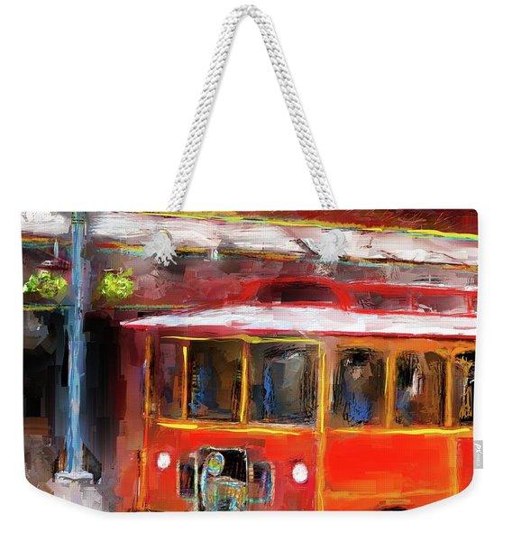 San Antonio 5 Oclock Trolley Weekender Tote Bag