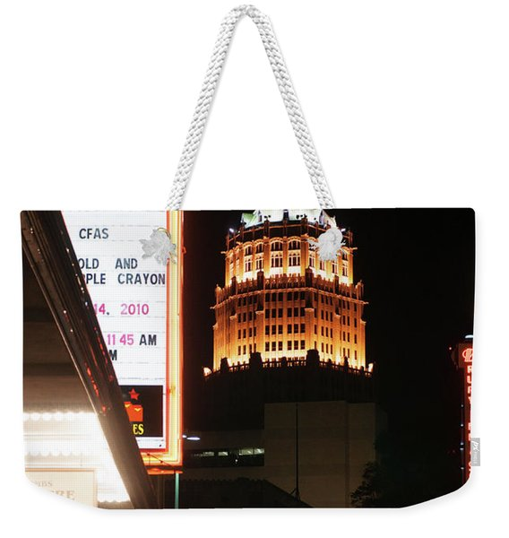 San Antonio Downtown Night Weekender Tote Bag