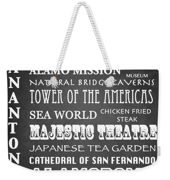San Antonio Famous Landmarks Weekender Tote Bag
